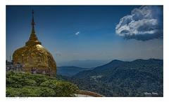 Golden Rock, Myanmar,(Burma). (Richard Murrin Art) Tags: goldenrock myanmar burma richard murrin art sky landscape view