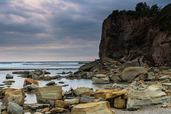 Moody and Overcast Rocky Sunrise Seascape (Merrillie) Tags: daybreak theskillion rocky nature water terrigal morning overcast sea waterscape newsouthwales rocks earlymorning nsw coast landscape ocean australia cloudy sunrise coastal clouds outdoors seascape dawn centralcoast waves sky
