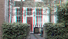 Street Delft 3D (wim hoppenbrouwers) Tags: anaglyph stereo redcyan street delft 3d 2 straat huis breestraat