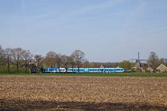 2 x Arriva GTW 2-8 - trein 3840 Emmen - Zwolle  - Dalen (Rene_Potsdam) Tags: dalen nederland netherlands holland treinen treni trenes tren züge spoorwegen europe europa gtw arriva drenthe