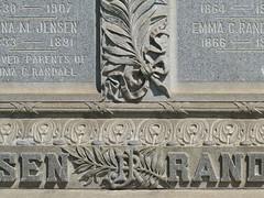 A18285 / jensen-randall tombstone detail (janeland) Tags: colma california 94014 olivet cemetery tombstone jensen randall text september 2018 noncoloursincolour