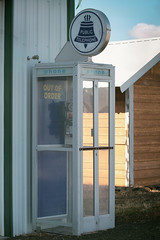 A phone booth that doesn`t work (of course) (annapolis_rose) Tags: phonebooth broken phone antique shaniko wascocounty centraloregon oregon