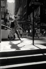 * (David Davidoff) Tags: people street shadow younglady leicam6ttlsummaron35mmf35goggles fomapan400 analogue monochrome urbanprospects cityrhythm