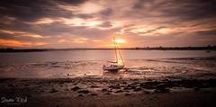 Waiting (Simon Rich Photography) Tags: heybridge basin sun sunset sailing boat clouds colours sky relections water sea tide beach landscape seascape essex simonrich simonrichphotography mrmonts canon