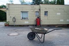 _DSC2608 (Ghostwriter D.) Tags: munich bavaria germany city nikond600 waldperlach sand sandpit diesel red wheelbarrow