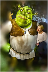 IMG_4599-shrek-princess_fiona (Roger Brown (General)) Tags: madame tussaud wax museum london model shrek 2001 american computeranimated comedy film l1990 fairytale picture book william steig 'princess' fiona roger brown canon 7d sigma 18250mm