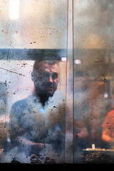 Turkish barbecue (Guido Klumpe) Tags: candid street streetphotographer streetphotography strase hannover hanover germany deutschland city stadt streetphotographde unposed streetshot gebäude architecture architektur building perspektive perspective color farbe outdoor drausen night nightshot nacht nachtaufnahme longexposure spiegelung mirror reflection reflected mann men gentleman barbecue