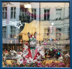 (Ute Kluge) Tags: berlin shop window christmastime reflection