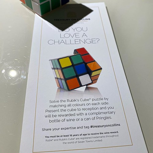 Fuck your cognitive discrimination. Here's a better idea: I just walk out of the hotel, go buy a bottle of wine elsewhere, walk back in the hotel and tell the front desk where to stick their fucking Rubik's Cube. How about I do that?