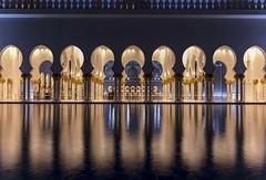 Sheikh Zayed Mosque Reflections 2 (yoosangchoo) Tags: abudhabi uae mosque grand zayed sheikh night reflections light blue gold