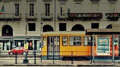 Domenica mattina (Giangaleazzo) Tags: torino piazza tram piemonte italy sunday motorola lifeinthestreet street strada citta mobile morning city città place