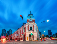 The Iconic Jinrikisha Station of Tanjong Pagar (The Elephant's Tales Photography) Tags: jinrikishastation heritage iconic tanjongpagar chinatownsingapore singapore cityscape streetphotography theelephantstales travelphotography bluehour nisi naturalnightfilter happyplanet asiafavorites