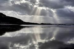 Bone of sailor Bone of bird (pauldunn52) Tags: light shafts sun witches point glamorgan heritage coast wales reflection