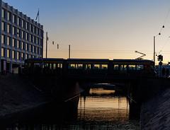 Helsinki (Antti Tassberg) Tags: 4 auringonlasku transportation silta reflection kaupunki helsinki suomi raitiovaunu aurinko bridge city cityscape finland ratikka scandinavia spora streetcar sun sundown sunset towncar urban