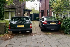 Volvos and cat (Michiel2005) Tags: 940 s80 94023ic cat kat poes volvo car auto holland netherlands leiden nederland