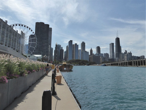 Chicago, Navy Pier, Backside with Skyline