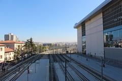 Ankara train station (Timon91) Tags: turkey turkei turkije türkiye turkiye turk yht yüksek hizli tren high speed train rail railway ray tcdd trein spoor zug eisenbahn bahn bahnhof spoorweg trem rails railways railroad