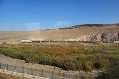 Cargo train seen from the YHT İstanbul-Eskişehir-Ankara (Timon91) Tags: turkey turkei turkije türkiye turkiye turk yht yüksek hizli tren high speed train rail railway ray tcdd trein spoor zug eisenbahn bahn bahnhof spoorweg trem rails railways railroad