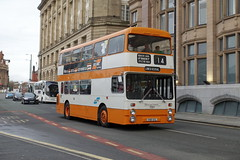 Preserved SELNEC Leyland Atlantean AN68 Park Royal 7001 VNB101L in Corporation St Manchester (Mark Bowerbank) Tags: preserved selnec leyland atlantean an68 park royal 7001 vnb101l corporation st manchester