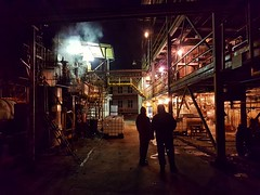 Night shift (wojciechpolewski) Tags: night nightphoto nightphotography industrial industry factory people poland wpolewski technology photo photos