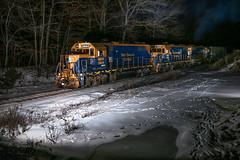 Three of Em (JaiJad) Tags: train railroad newenglandcentral necr3844 freighttrain necr610 gp38 southwindham ct