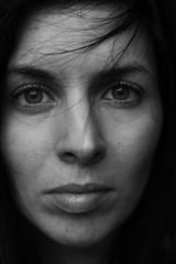 L'imparfaite transit (Dans ma nébuleuse) Tags: bw blackandwhite visage autoportrait canondslr 100d canon portrait female femme