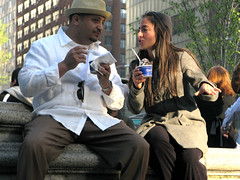 Union Square (5) (chipje) Tags: street man woman icecream unionsquare newyork