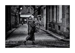 Ça sent le sapin ... de Noël ! (bertranddorel) Tags: architecture arbres blackandwhite bw bnw biancoenero bretagne blancoynegro blancetnoir batiment contrast city ciutad d750 europe france femme face fenêtre gens graphisme graphique grey geometrique girl human humain holidays hold intramuros light lumière life mono monochrome monocromo maison noiretblanc nikon nb nikkor ngc noir negro nero noël old people personne pavés rue reflet reflection ruelle rain street streetphoto saintmalo silhouette shadows seul town sapin urban urbano urbanwalls ville vie vieux woman wb walking walk weather