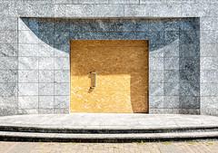 Designer Door (basketnick) Tags: door woodencover buildinglot shadows minimalist marblestones doorhandle steps berlin facade