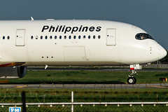 Philippine Airlines - Airbus A350-941 / RP-C3504 @ Manila (Miguel Cenon) Tags: pal pala350 pala359 pra350 pra359 philippineairlines planespotting ppsg philippines plane pr rpll airplane airplanespotting apegroup appgroup airport airbus airbusa350 airbusa359 a359 a350 manila nikon naia d3300 wings widebody widebodyjet wing twinengine fly flying jet rollsroyce rrtrent trentxwb sky aircraft window cockpit building city rpc3504