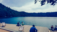 IMG_20190720_134613128-2 (schoolartBYschoolboy) Tags: auvergne puydedome lake pier forest vulcan