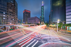 Crowded Lights (Wolfics) Tags: light streets taiwan taipei night speed long exposure cityscape slow angle sony wide trails shutter alpha streaks ultra uwa a7iii people building architecture 12mm laowa