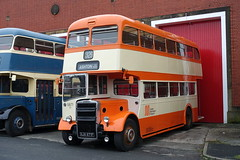 Preserved Ex-Stockport Leyland Titan PD3 East Lancs KJA871F in GMT livery as its 5871 at the Museum of Transport Greater Manchester (Mark Bowerbank) Tags: preserved exstockport leyland titan pd3 east lancs kja871f gmt livery its 5871 museum transport greater manchester