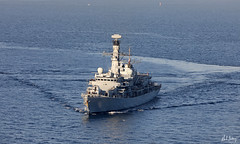 Royal Navy Type 23 Frigate HMS Kent (F78) in the Bay of Gibraltar (Mosh70) Tags: royalnavy rn type23 hmskent f78 gibraltar hmnavalbasegibraltar hmnavalbase hmnb