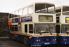 Dublin Bus RH164 (93D10164). (Fred Dean Jnr) Tags: dublin january2003 bus dublinbus busathacliath dublinbusbluecreamlivery leyland alexander rh olympian broadstonedepotdublin broadstone broadstonegaragedublin dublinbusphibsborodepot pboro rh164 93d10164 l275yey