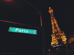 Paris Drive at Vegas Strip (engineergeronimo) Tags: nightslights street parisdrive lasvegas vegasstrip eiffeltower