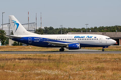 YR-BAP (PlanePixNase) Tags: frankfurt fra eddf airport aircraft planespotting blue air boeing 737 b737 733 737300 b733 montenegro