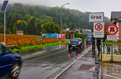 Graz avec totem ville à 30 6