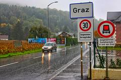 Graz avec totem ville à 30 2