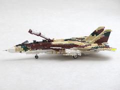 """F-14A """"Persian Tomcat"""" (Mad physicist) Tags: lego grumman iran fighter military 136 f14 f14a tomcat"""