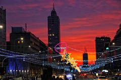 Milano sunset (MaOrI1563) Tags: milano milan stazionecentrale centrale stazione station grattacielo via strada street sunset tramonto luci stella star