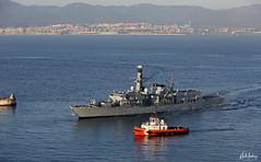 Royal Navy Type 23 Frigate HMS Kent (F78) entering Gibraltar Harbour (Mosh70) Tags: royalnavy rn type23 hmskent f78 gibraltar hmnavalbasegibraltar hmnavalbase hmnb