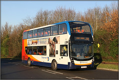 10730, Cob Drive (Jason 87030) Tags: stagecoach midlands mmc bus wheels 55 route service pineham swanvalley northants northampton red white blue orange northamptonshire lighting sunn sunny light shot shoot session canon eos buses autumn anything everything