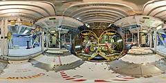OPF_main_engine_floor_2-5000x2500 (DMolybdenum) Tags: space shuttle 360 panorama nasa kennedy center orbiter processing facility