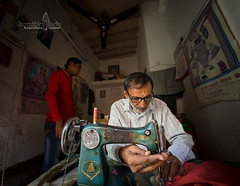 A tailor's story (Albert Photo) Tags: tailor man sewingmachine antique