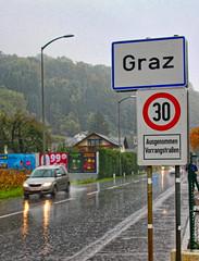 Graz avec totem ville à 30 1