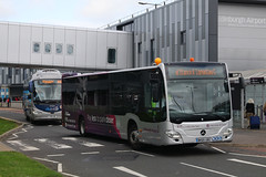 BK65 UBX, Edinburgh Airport, October 4th 2018 (Southsea_Matt) Tags: bk65ubx empark mercedesbenz citaro egph edi edinburghturnhouse october 2018 autumn edinburgh lothian scotland unitedkingdom canon 80d sigma 1850mm transport bus omnibus vehicle