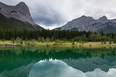 Quarry Lake - Canmore, Alberta (Richard Forward) Tags: lake quarry reflection landscape canada canmore turquoise rockies