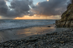 Winter Sunset (CloudRipR) Tags: beach ocean sea waves rocks sand sunset clouds california southerncalifornia encinitas nikon d810 nikkor