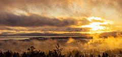 Early sunset - low skies - Norwegian winter (Thor Edvardsen) Tags: sunset winter sky skies oslo oslofjorden norway norge sea seaview ocean water mist elitegalleryaoi bestcapturesaoi aoi